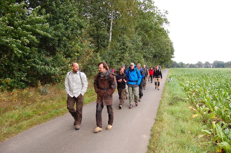Start der Wanderung in Brockhöfe